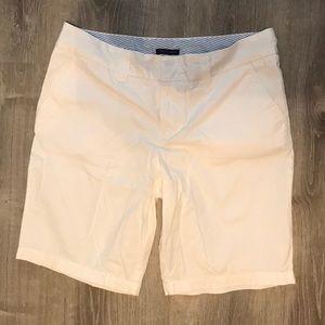 White Bermuda shorts!